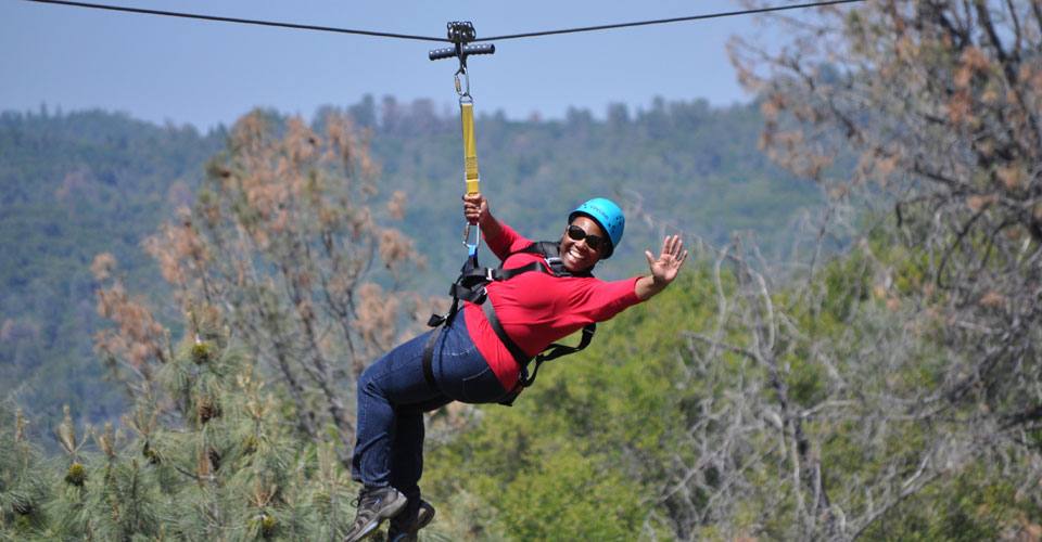 Ziplines and Adventure Beach | Yosemite,CA | Apple Blossom